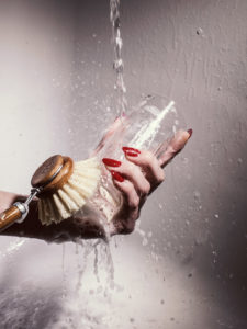 Glass, Water, Red Nails, Brush, Illana Swanepoel, Disco Creatives, Disco Casting, Stylist, Props Stylist