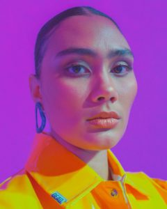 Vuse, Disco Creativeas, Photography by Anthony Bila, girl with an earring.